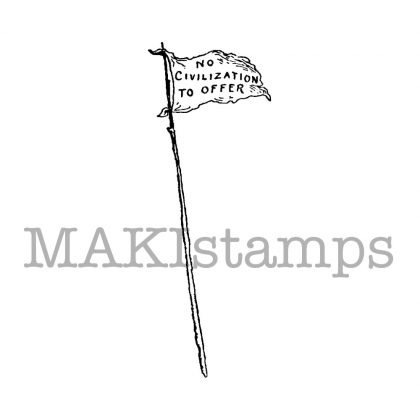 flag rubber stamp