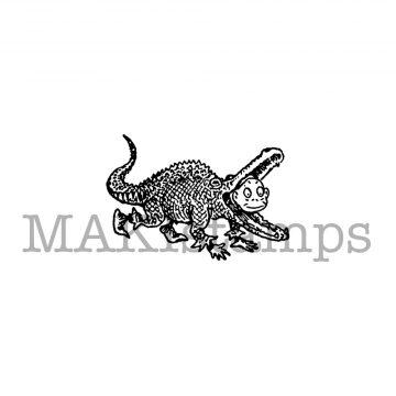 Krokodil Kostüm Stempel