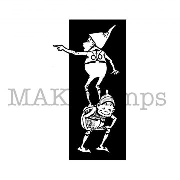 Brownie rubber stamp