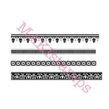 background rubber stamp set MAKIstamps