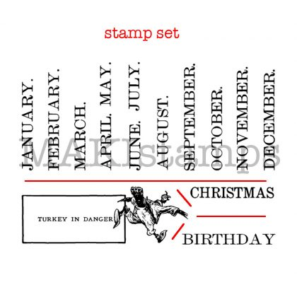 stamp set DIY calendar