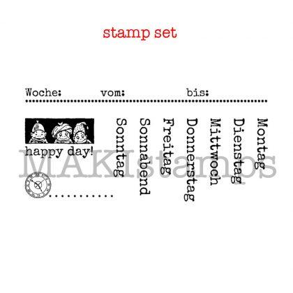 Organizer stamps set german