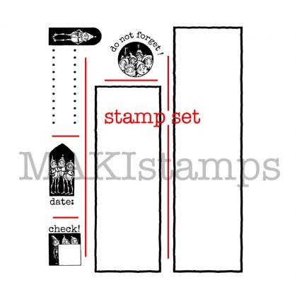 DIY planner stamp set Makistamps