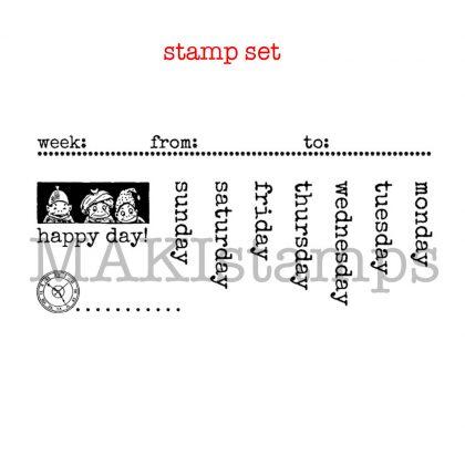 calendar stamps set makistamps