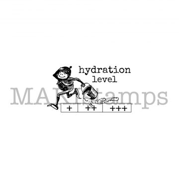 hydration level rubber stamp
