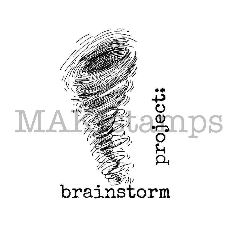 rubber art stamp set tornado brainstorm