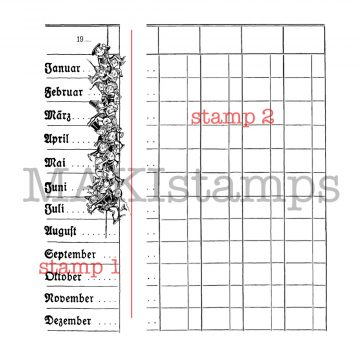 chart rubber stamp