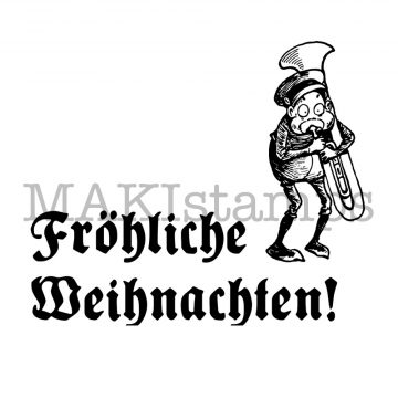 german christmas rubber stamp