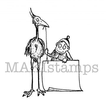big bird rubber stamp