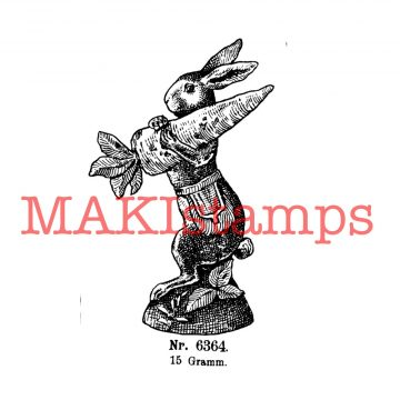 vintage rubber stamp MAKIstamps