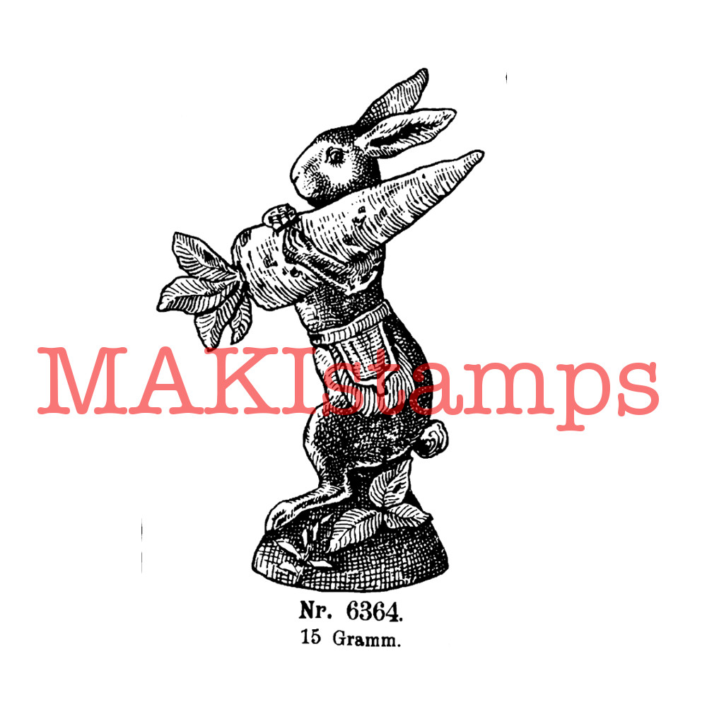 vintage rubber stamp MAKIstamps