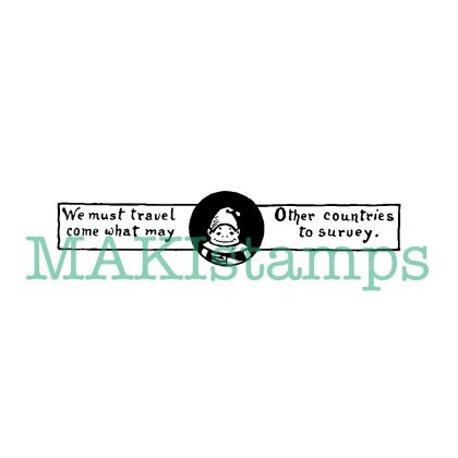 Travel rubber stamp Brownies