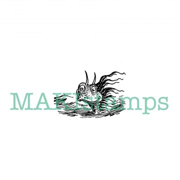 sea monster rubber stamp