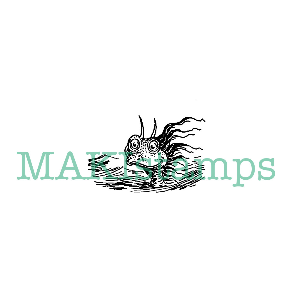 sea monster stamp
