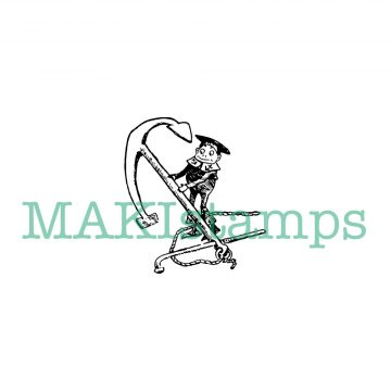 small anchor rubber stamp