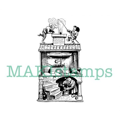 funny house rubber stamp