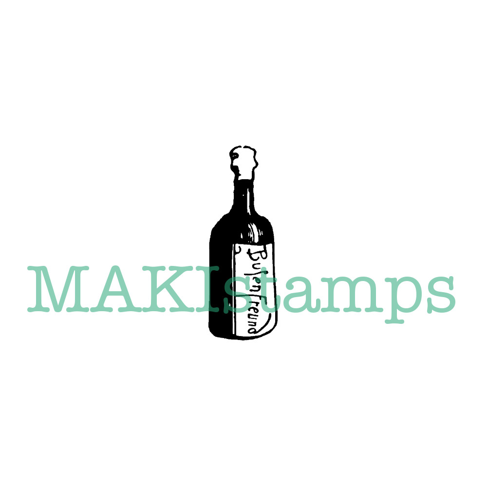 Rubber stamp drink