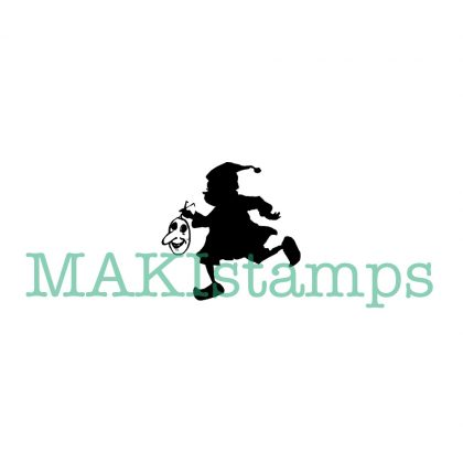 silhouette rubber stamp brownie MAKIstamps