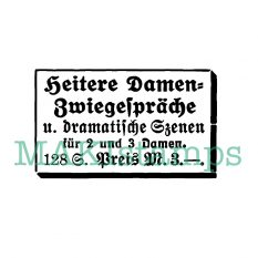 vintage german art rubber stamp table talks
