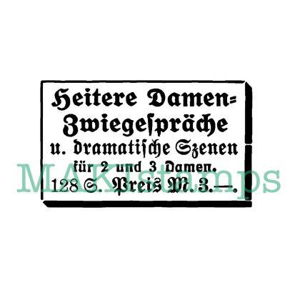 vintage german art rubber stamp table talks