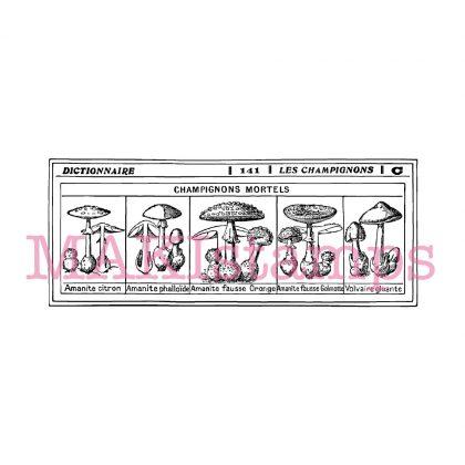mushroom rubber stamp MAKIstamps