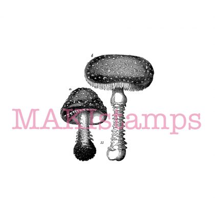 fly agaric rubber stamp toadstool MAKIstamps