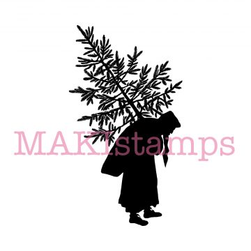 MAKIstamps german silhouette rubber stamp