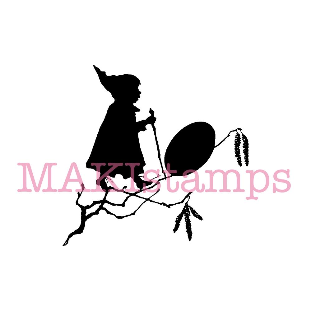 silhouette stamp gnome