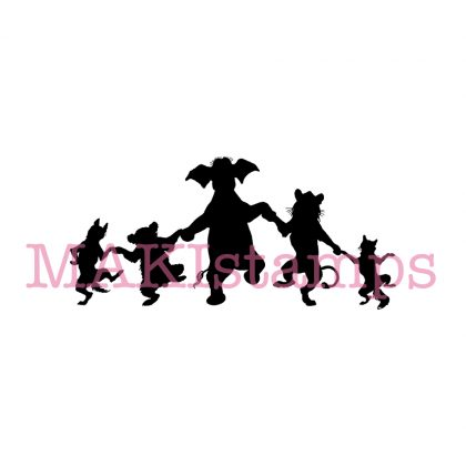 rubber stamp friendship silhouette animals MAKIstamps