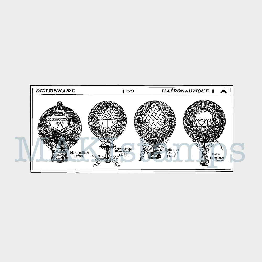 makistamps rubber stamps balloons