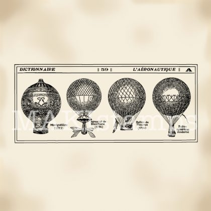 rubber stamp hot air balloon