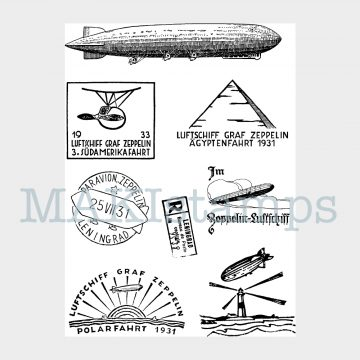 mail art rubber stamp set MAKIstamps