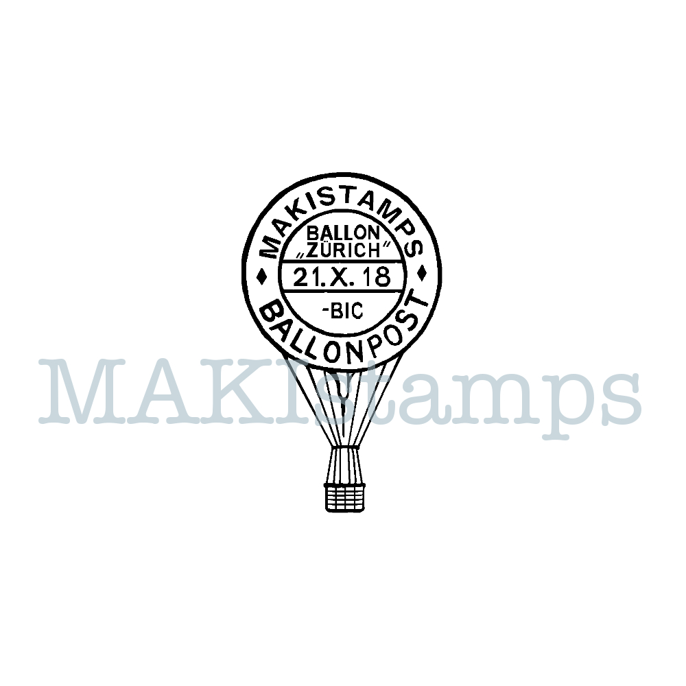 german postage stamp balloon MAKIstamps