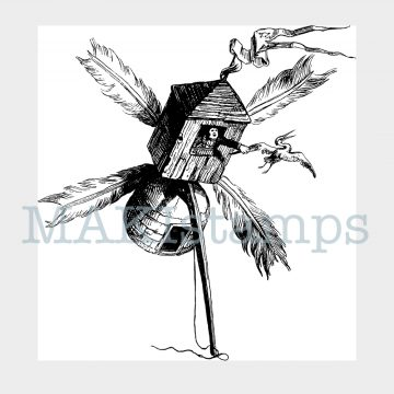 phantastic aeronaut rubber stamp MAKIstamps