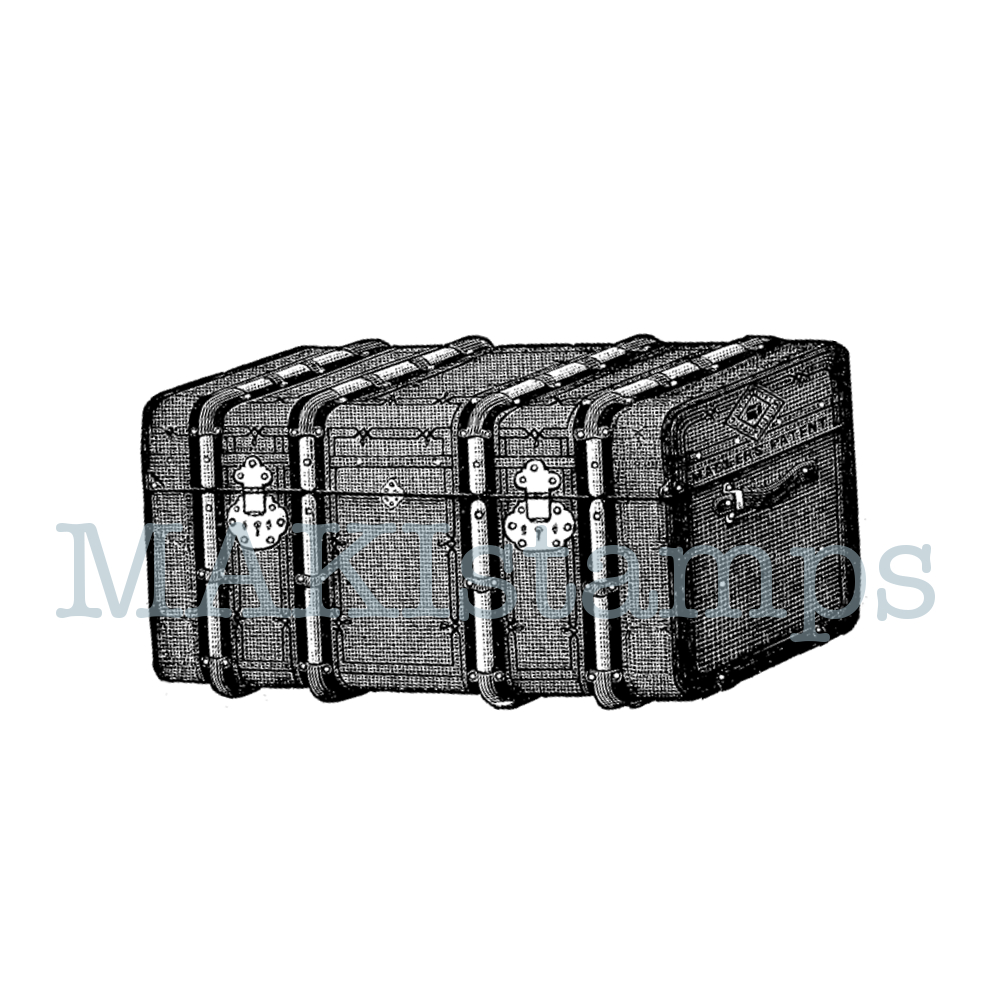 rubber stamp trunk harry potter
