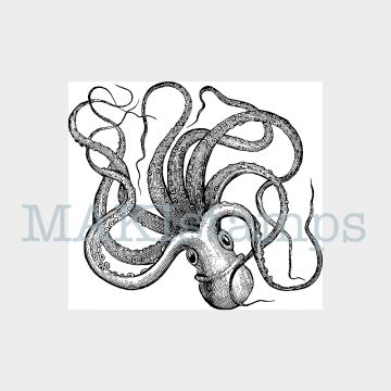 octopus rubber stamp MAKIstamps