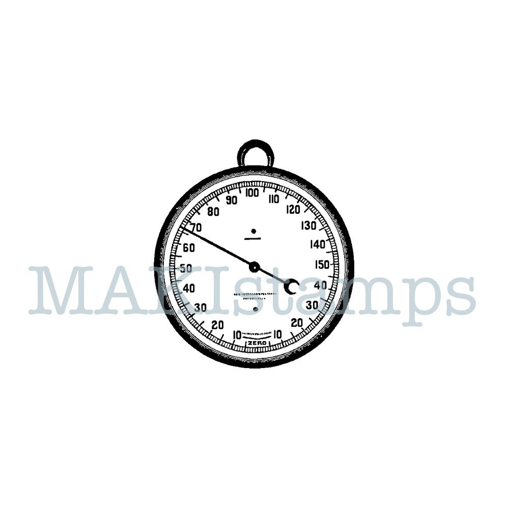 rubber stamp barometer MAKIstamps steam punk stamp