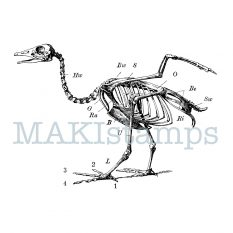 rubber stamp goose skeleton