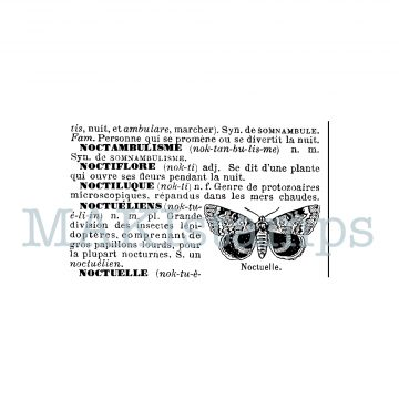 french text stamp butterfly MAKIstamps