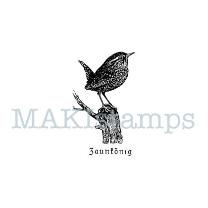 little bird stamp wren MAKIstamps