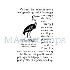 heron rubber stamp MAKIstamps