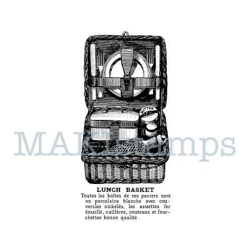 picnic rubber stamp