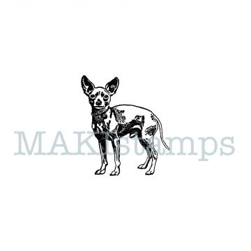rubber stamp Chihuahua MAKIstamps