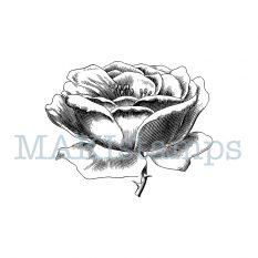 rubber stamp rose