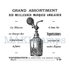 Text rubber stamp french perfume MAKIstamps