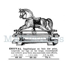 rubber stamp rocking horse
