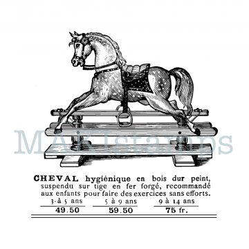 MAKistamps rubber art stamp rocking horse