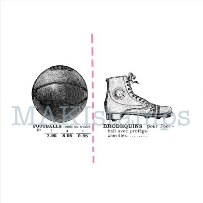 rubber stamps football shoes