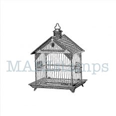 rubber stamp bird cage