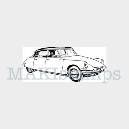 automobile rubber stamp MAKIstamps